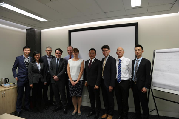 Chairman of the board of Beroni Group Mr. Boqing Zhang and his officers visiting University of New South Wales, Australia