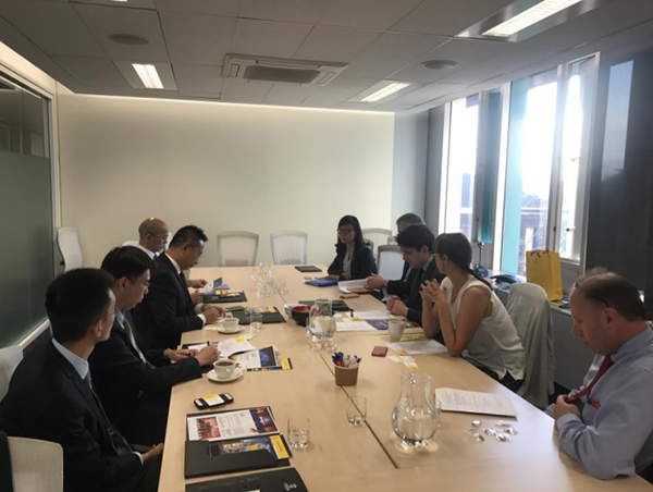 Vice President of UNSW Ana Deletic, Assistant President of international affairs Mr.Laurie Pearcey and Beroni Representatives attended the meeting