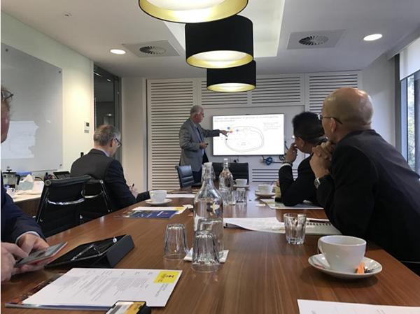 Prof. Phil Hogg introduce Cystemix Technology project to Beroni Representatives