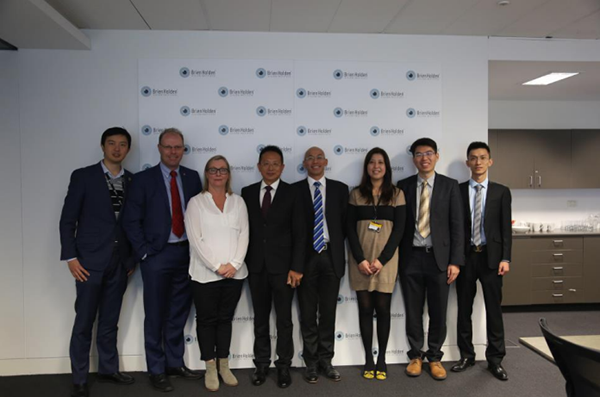 Mr. Zhangboqing and his officers visit Brien Holden Vision Institute