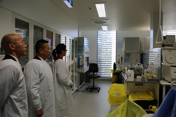 Beroni Group representatives also visited the Lowy Cancer Research Center