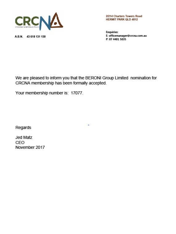 恭贺贝罗尼集团正式成为CRCNA成员,助推贝罗尼澳北大开发项目顺利开展