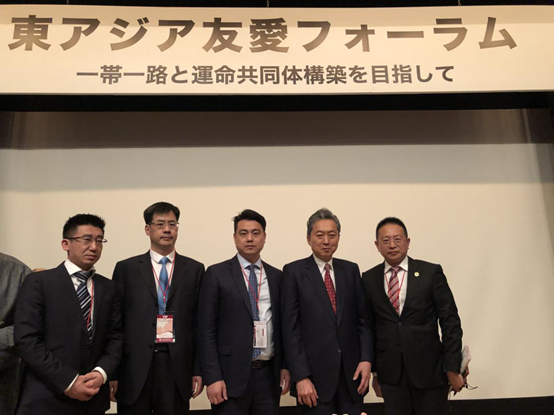 Picture of Your Excellency Yukio Hatoyama and the representatives from Beroni Group