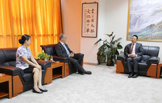 Mr. Jacky Zhang, Executive Chairman of Beroni Group meeting with Professors Jay S. Siegel from SPST