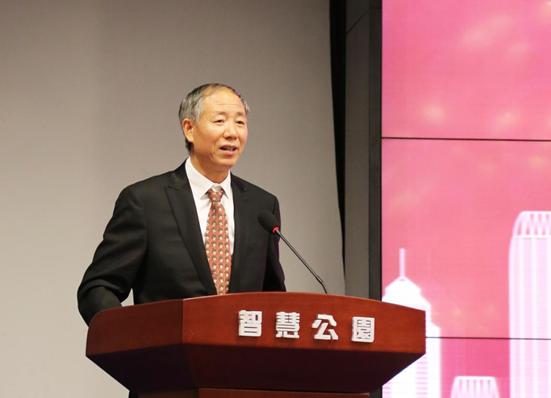 Mr. Shouji Lu, Vice President and Secretary General of Silk-road Industry and Finance International Alliance making a speech