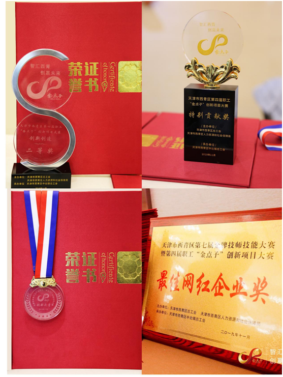 公司获得的各项荣誉证书